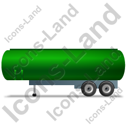 Tanker Trailer Left Green Icon