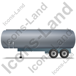 Tanker Trailer Left Grey Icon