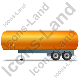 Tanker Trailer Left Yellow Icon