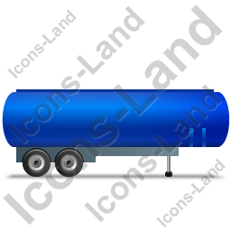 Tanker Trailer Right Blue Icon, PNG/ICO, 256x256
