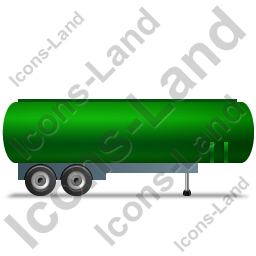 Tanker Trailer Right Green Icon