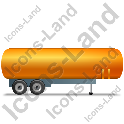 Tanker Trailer Right Yellow Icon