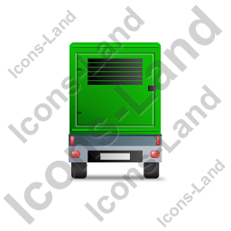 Ultra Silent Generator Trailer Back Green Icon, PNG/ICO, 256x256