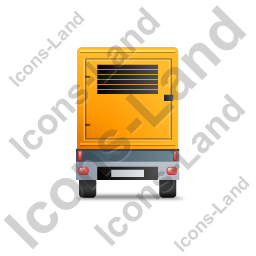 Ultra Silent Generator Trailer Back Yellow Icon