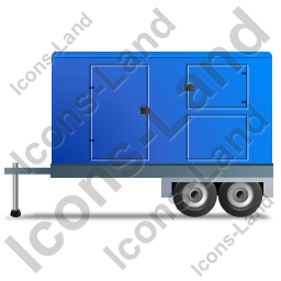 Ultra Silent Generator Trailer Left Blue Icon