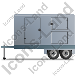 Ultra Silent Generator Trailer Left Grey Icon, PNG/ICO, 256x256