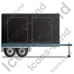 Ultra Silent Generator Trailer Right Black Icon