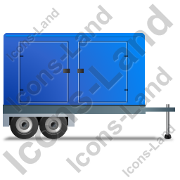 Ultra Silent Generator Trailer Right Blue Icon