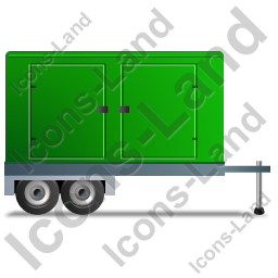 Ultra Silent Generator Trailer Right Green Icon