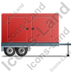 Ultra Silent Generator Trailer Right Red Icon