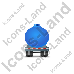 Waste Tanker Trailer Front Blue Icon, PNG/ICO, 256x256