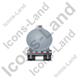 Waste Tanker Trailer Front Grey Icon, PNG/ICO, 256x256