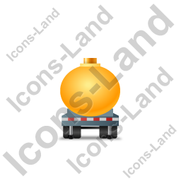 Waste Tanker Trailer Front Yellow Icon, PNG/ICO, 256x256