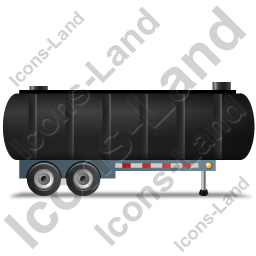 Waste Tanker Trailer Right Black Icon