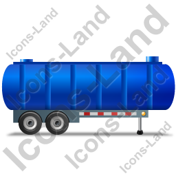 Waste Tanker Trailer Right Blue Icon