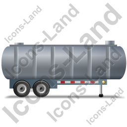 Waste Tanker Trailer Right Grey Icon