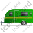 Caravan Left Green Icon, PNG/ICO, 48x48