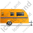 Caravan Right Yellow Icon, PNG/ICO, 48x48