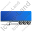 Box Trailer Left Blue Icon, PNG/ICO, 64x64