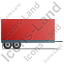 Car Trailer Right Red Icon, PNG/ICO, 64x64