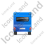 Caravan Back Blue Icon