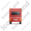 Caravan Back Red Icon, PNG/ICO, 64x64