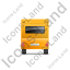 Caravan Back Yellow Icon, PNG/ICO, 64x64