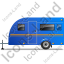 Caravan Left Blue Icon