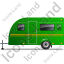 Caravan Left Green Icon, PNG/ICO, 64x64