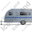 Caravan Left Grey Icon
