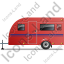 Caravan Left Red Icon, PNG/ICO, 64x64