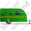 Caravan Right Green Icon, PNG/ICO, 64x64