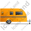 Caravan Right Yellow Icon, PNG/ICO, 64x64