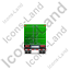 Containerized Generator Trailer Back Green Icon