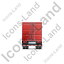 Containerized Generator Trailer Back Red Icon
