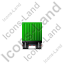 Containerized Generator Trailer Front Green Icon, PNG/ICO, 64x64