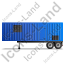 Containerized Generator Trailer Left Blue Icon, PNG/ICO, 64x64