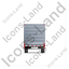 Flatbed Trailer Bulkhead Back Grey Icon, PNG/ICO, 64x64