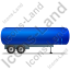 Tanker Trailer Right Blue Icon, PNG/ICO, 64x64