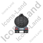 Waste Tanker Trailer Back Black Icon