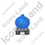 Waste Tanker Trailer Front Blue Icon, PNG/ICO, 64x64