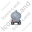 Waste Tanker Trailer Front Grey Icon, PNG/ICO, 64x64