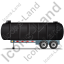 Waste Tanker Trailer Left Black Icon