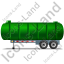 Waste Tanker Trailer Left Green Icon