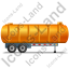 Waste Tanker Trailer Right Yellow Icon