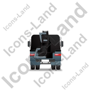Concrete Pump Back Black Icon, PNG/ICO, 128x128