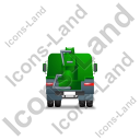 Concrete Pump Back Green Icon, PNG/ICO, 128x128