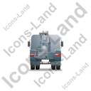 Concrete Pump Back Grey Icon, PNG/ICO, 128x128