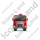 Concrete Pump Front Red Icon, PNG/ICO, 128x128