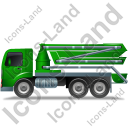 Concrete Pump Left Green Icon